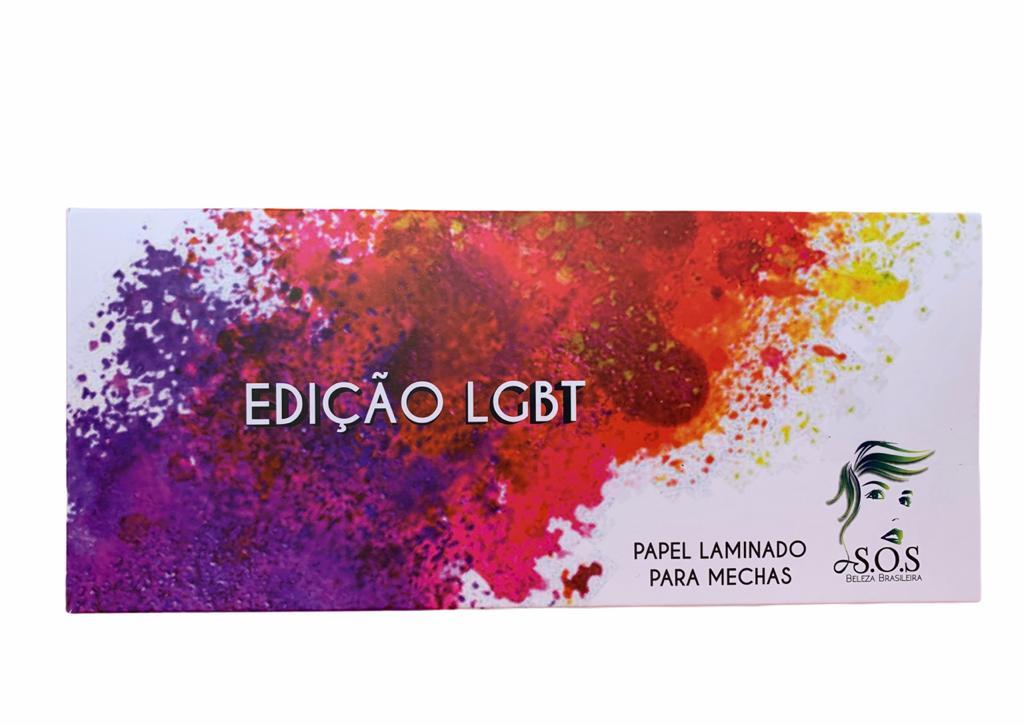 PAPEL LAMINADO PARA MECHAS LGBT
