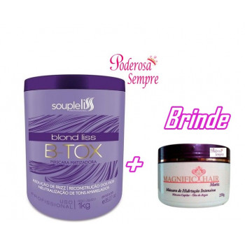 Botox Blond Liss B-tox Máscara Matizadora 1Kg Souple liss + Brinde
