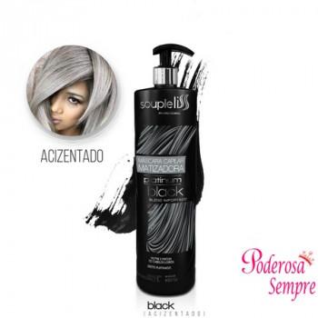 Máscara Capilar Matizadora Platinum Black 1lt Souple Liss