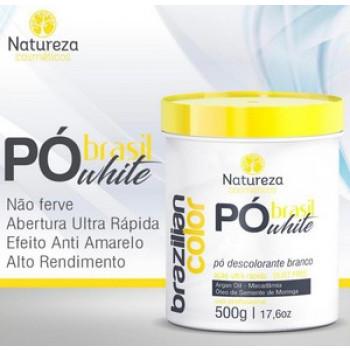 PÓ DESCOLORANTE WHITE  500g- NATUREZA COSMÉTICOS