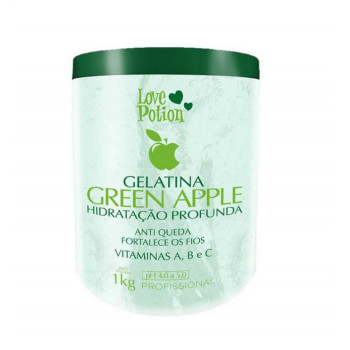 Gelatina Green Apple Love Potion Hidratação Profunda 1 kl