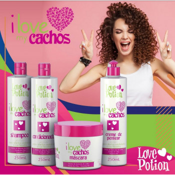 KIT 4 PASSOS - I LOVE MY CACHOS 250ML Love potion