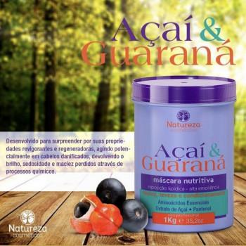 Máscara Nutritiva Açaí e Guaraná 1kg Natureza Cosméticos