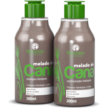 Shampoo e Condicionador Melado de Cana 300ml Natureza Cosméticos