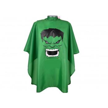 Capa de Corte Infantil Estampada para Cabeleireiro - Hulk