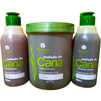 Kit Home Care Melado de Cana 300ml + Máscara Melado de Cana 1kg