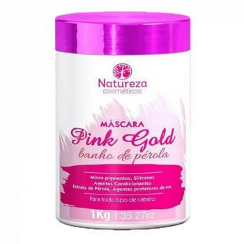Pink Gold Máscara Banho de Pérola 1kg Natureza Cosméticos