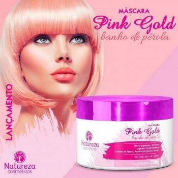 Pink Gold Máscara Banho de Pérola 300g Natureza Cosméticos