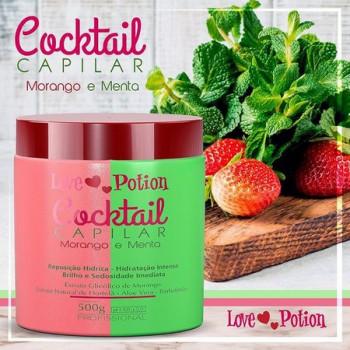Máscara Cocktail Capilar Morango e Menta  Love Potion 500g